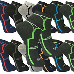 12-24 PAAR Sneaker Socken Sport Herren Damen Kurz Socken Baumwolle 39-42 43- 46
