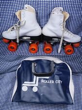 Roller Derby Urethane 28 Roller City Cary Case Skates Size 6 Mint Condition