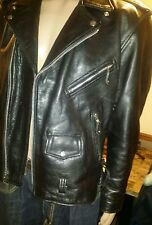 mens vintage leather motorcycle jacket