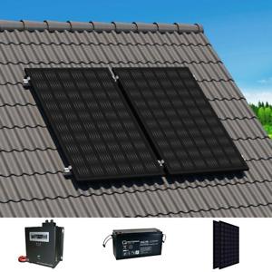 Solar-Inselanlage  230V |1,9 kWh Speicher | 600 Wp PV-Leistung | Montagematerial
