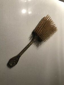 Vintage 1950's Brass Guilded Nylon Hair Brush - Made In England