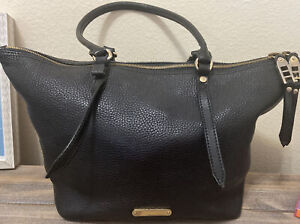 Authentic Burberry Two Way Zip Leather Tote