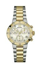 Bulova Women's Quartz Chronograph Mother of Pearl Dial 30mm Watch 98R209