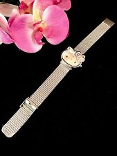 SENSATIONAL SANRIO STAINLESS STEEL METAL PINK ENAMEL HELLO KITTY BATTERY WATCH