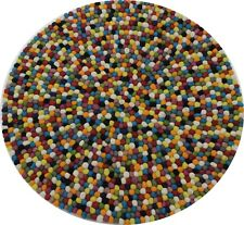Handmade Multi color Felt Balls Rug Nursery Kids Room Carpet Freckle Mat
