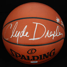 Clyde Drexler SIGNED Official NBA Basketball Houston Rockets PSA/DNA AUTOGRAPHED