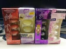 GLADE SCENTED OIL CANDLES LOT 15 ANGEL WHISPERS NUTCRACKER ORCHID PEPPERMINT NEW