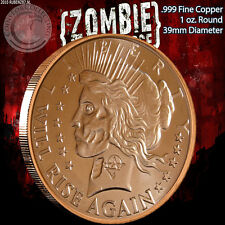"""New listing """"Peace Dollar"""" 1 oz .999 Copper Round Part of the ApocalypeZe Series Limited"""