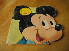 MICKEY MOUSE  BOOK  1965  GOLDEN SHAPE