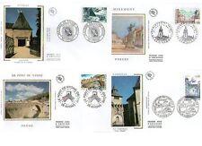 FDC - FRANCE 2954-2957 - SERIE MONUMENTS DE 1995