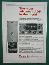 2/1967 PUB MARCONI  AIRADIO SYSTEMS AD370 CRYSTAL CONTROLLED TUNING ADVERT
