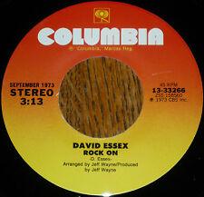 "*<* ""Hey kids...ROCK ON...Jimmy Dean"": DAVID ESSEX 1974 #5 UNPLAYED MINT HIT 45!"