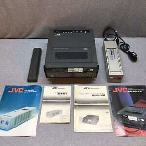 JVC BR-6200U VHS  PORTABLE VCR With AA-P26U AC Adapter/Charger *AS-IS* For Parts