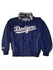 Majestic MLB Los Angeles Dodgers Boys Medium Jacket Blue Zip Front