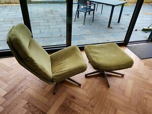 Chair and footstool used