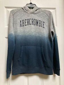 Abercrombie Kids Grey Dip Dyed Logo Hoodie Boys Size 13/14