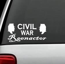 M1046 Civil War Reenactor Soldiers Decal Sticker Confederate Union Yankee Kepi