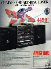 Publicité advertising 1986 Chaine Hi-Fi Amstrad
