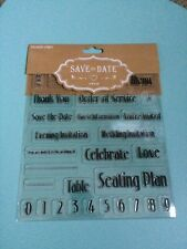 Wedding stationery  - Save the date stamps - make your own invitations - New