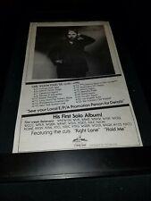 Carl Wilson The Right Lane Rare Original Radio Promo Poster Ad Framed!