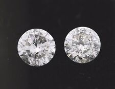 Matching .40ct each (.80ctw) Round Loose Diamonds (I color, I2 clarity) 4.7mm