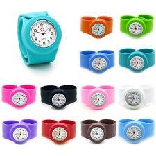 2017 New Hospital Nurse Slap Snap On Silicone Quartz Wrist Watch Girl Boy watch