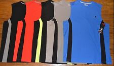 Fila Sport Performance Muscle Tank Sleeveless Tee Mens Accent Stripe Msrp $30.00