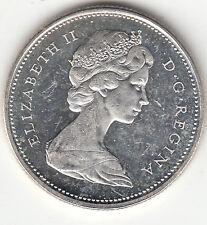 .500 Silver 1968 Elizabeth II 25 Cent Piece BU