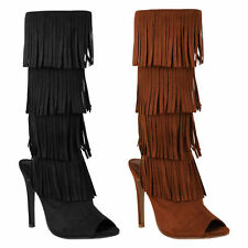 High Heel (3-4.5 in.) Stiletto Patternless Boots for Women