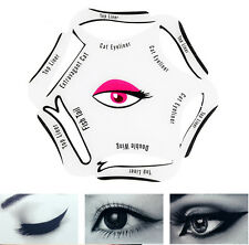 6 in 1 Easy Eyeliner Stencil Cat Eye & Smokey Eye Makeup Top Bottom Pen Pencil