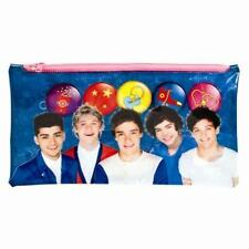 Children One Direction 1D Large Flat Pencil Case Stationery Pen Pencils School