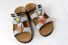 Bio-Walker Sandale Fußbett- Pantolette Lauf Bequem grau Gr 39 NEU praktisch S129