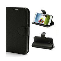 Housse Etui Coque Pochette Portefeuille Noir pour Samsung Galaxy S4 i9500