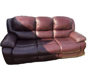 La Z Boy recliner leather electric 3 Piece Suite