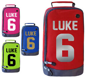 Personalised Childrens Boot Bag Boys Football Rugby Kids Sports Footy PE Kit