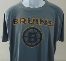 NHL Boston Bruins Gray Short Sleeve T-Shirt Mens Large