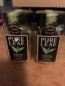 Lot 2 Of  12 Sachets Pure Leaf Matcha Ginger Sealed Japan Green Tea EXP 4/2/20
