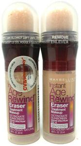 (2) Maybelline Instant Age Rewind Eraser Treatment Makeup 200 - Creamy Natural