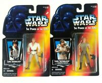Star Wars Kenner Power Of The Force POTF Luke Skywalker Long Lightsabers Sealed
