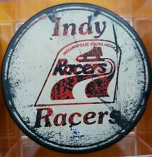 Indianapolis racers vintage hockey puck extremely rare Gretzky junior team