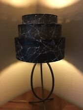 Mid Century Vintage Style 3 Tier Fiberglass Lamp Shade Modern  Pagoda BLK