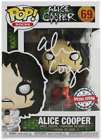 Alice Cooper Signed #69 Funko Pop Vinyl Figure w/ White Sig BAS Witnessed