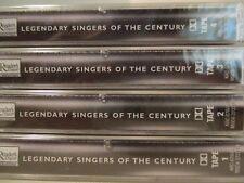 4 Cassette MINT Readers Digest KRC-076 Vintage '98 LEGENDARY SINGERS CENTURY 410
