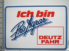 Aufkleber Sticker Deutz Fahr - Pro Agrar Traktor Schlepper Decal (6480)