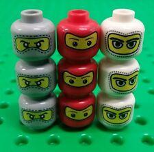 *NEW* Lego Ninja Racing Car Driving Mask Faces Bulk Heads Mini Figures 9 pieces