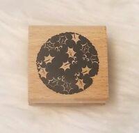 Inkadinkado Holly Circle/Ornament Christmas Wood Mounted Rubber Stamp