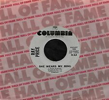 "RAY PRICE ""SHE WEARS MY RING/Sweetheart Of..."" COLUMBIA HALL 33167 (1980R) 45rpm"