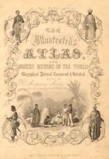 TALLIS ILLUSTRATED ATLAS TITLE PAGE. Figures represent four continents 1851