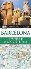 DK Eyewitness Barcelona Pocket Map & Guide (Spain) *FREE SHIPPING - NEW*