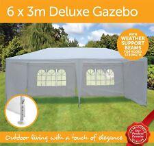 Waterproof  Outdoor Garden Gazebo Tent Marquee Canopy - 6x3m